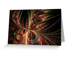 Orange Butterfly - Abstract Fractal Artwork Greeting Card