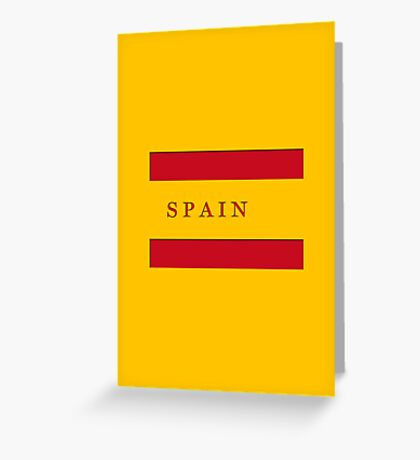 World Cup: Spain Greeting Card