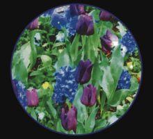 Spring Garden in Shades of Purple Kids Tee