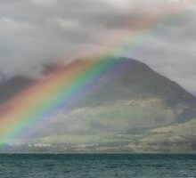 Rainbow Hill - Queenstown New Zealand by Beth  Wode