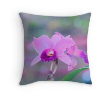 Pink Orchid Cushion Throw Pillow  Throw Pillow