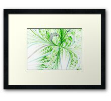 Green Butterfly - Abstract Fractal Artwork Framed Print