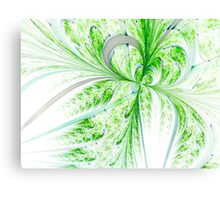 Green Butterfly - Abstract Fractal Artwork Canvas Print