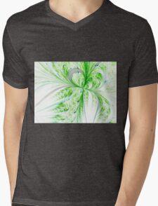 Green Butterfly - Abstract Fractal Artwork Mens V-Neck T-Shirt