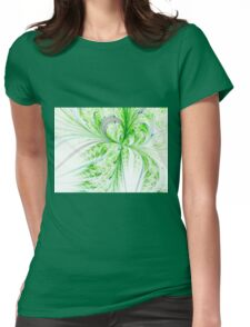 Green Butterfly - Abstract Fractal Artwork Womens Fitted T-Shirt