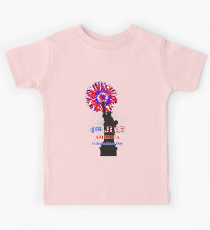 American Independence Day Happy 4th Of July Celebration Graphic Kids Tee