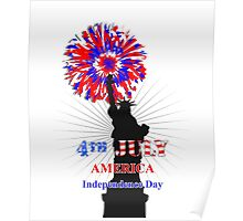American Independence Day Happy 4th Of July Celebration Graphic Poster
