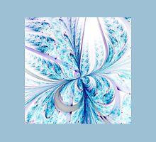 Light Blue Butterfly - Abstract Fractal Artwork Womens Fitted T-Shirt
