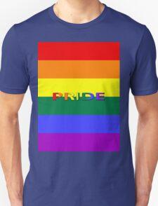 Rainbow Flag with Pride Unisex T-Shirt