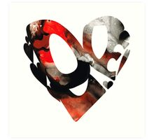Love 18- Heart Hearts Romantic Art Art Print