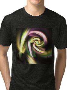 Golden Spiral - Abstract Fractal Artwork Tri-blend T-Shirt