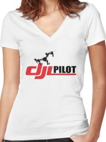 DJI PILOT  Women's Fitted V-Neck T-Shirt
