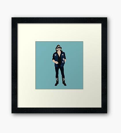 Tribute: Lemmy Framed Print