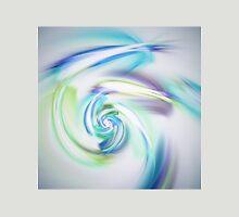 Light Blue Spiral - Abstract Fractal Artwork Unisex T-Shirt