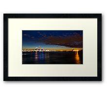 Auckland City Harbour  Framed Print