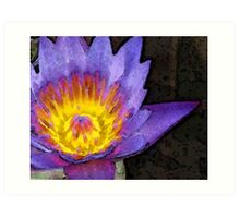 Purple Lotus Flower - Zen Art Painting Art Print