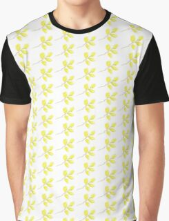 Yellow willow catkins watercolor Graphic T-Shirt