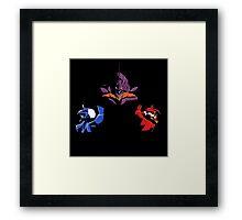 Neon Gensis Evangelion - Three Eva's Framed Print