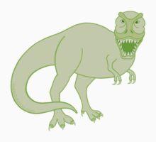 Green T Rex Dinosaur Colorful Prehistoric Animal Kids Tee