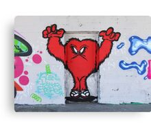 Cute Red Hairy Monster Canvas Print