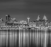 Liverpool skyline at night by Paul Madden
