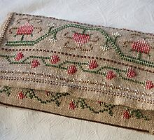 Handcrafted Needlework Bag by Kathy Reid