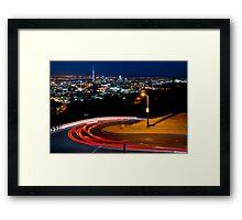Mt Eden Car Trails Framed Print