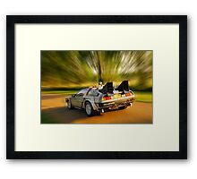 DELOREAN.... Back to the Future. Framed Print