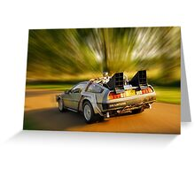 DELOREAN.... Back to the Future. Greeting Card