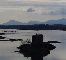 In Silhouette; Castle Stalker by wiggyofipswich