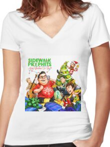 SIDEWALK PRIPHETS - MERRY CHRISTMAS TO YOU Women's Fitted V-Neck T-Shirt