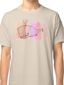 pink paint YEAH whale Classic T-Shirt