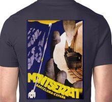 Art Deco era Vintage travel by rail ad for Montserrat Spain Unisex T-Shirt