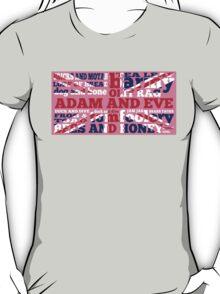 Pink Union Jack, Cockney Rhyming Slang T-Shirt