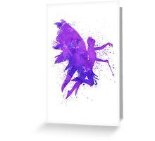 Magical Purple Watercolour Fairy Greeting Card