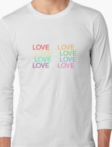 LOVE is LOVE (White) Long Sleeve T-Shirt