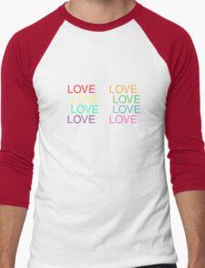 LOVE is LOVE (White) Men's Baseball ¾ T-Shirt