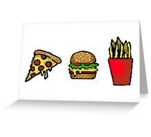 pixel food Greeting Card