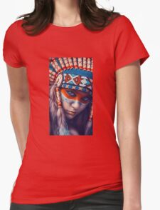 Indian Chief Girl Womens Fitted T-Shirt