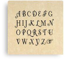 Practice your Letters - Font Study No. 4239 Canvas Print