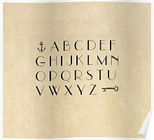 Practice your ABCs - Font Study No. 3492 Poster