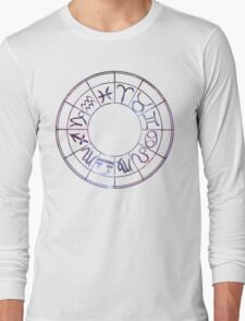 Zodiac Wheel Long Sleeve T-Shirt