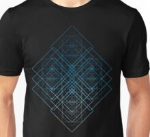 GEOMETRICAL SHAPES PATTERN TRIANGLES CIRCLES SQUARES Unisex T-Shirt