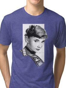 Hollywood stars: Audrey Hepburn Tri-blend T-Shirt