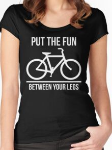 Put The Fun Between Your Legs Women's Fitted Scoop T-Shirt