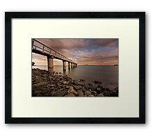 Colourful Clouds Framed Print