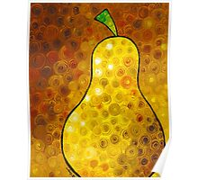 Golden Pear - Abstract Fruit Art By Sharon Cummings Poster