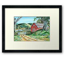 Spring Landscape (on craft foam) Framed Print