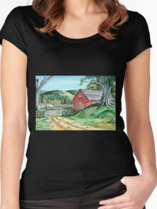 Spring Landscape (on craft foam) Women's Fitted Scoop T-Shirt