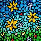 Spring Maidens - Colorful Flower Art By Sharon Cummings by Sharon Cummings